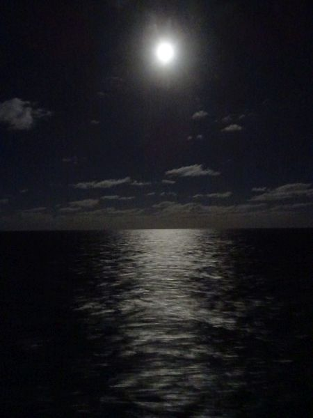 114 St Martin - Evening Moon over Sea