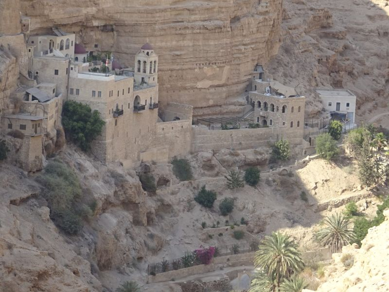 201 201709.11 Old road from Jericho to Jerusalem - Old Franciscan Monastry along road